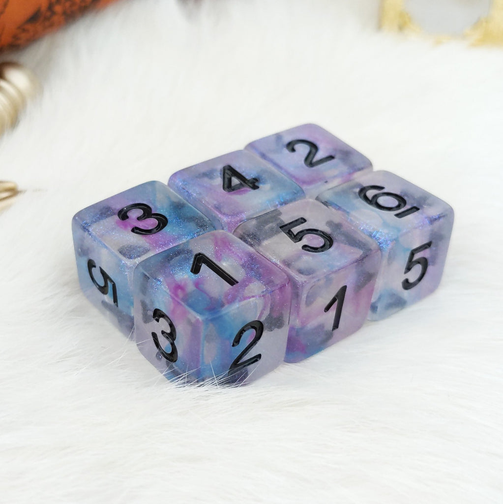 Ceremonial Chrome D6 Set. Set of 6 - CozyGamer