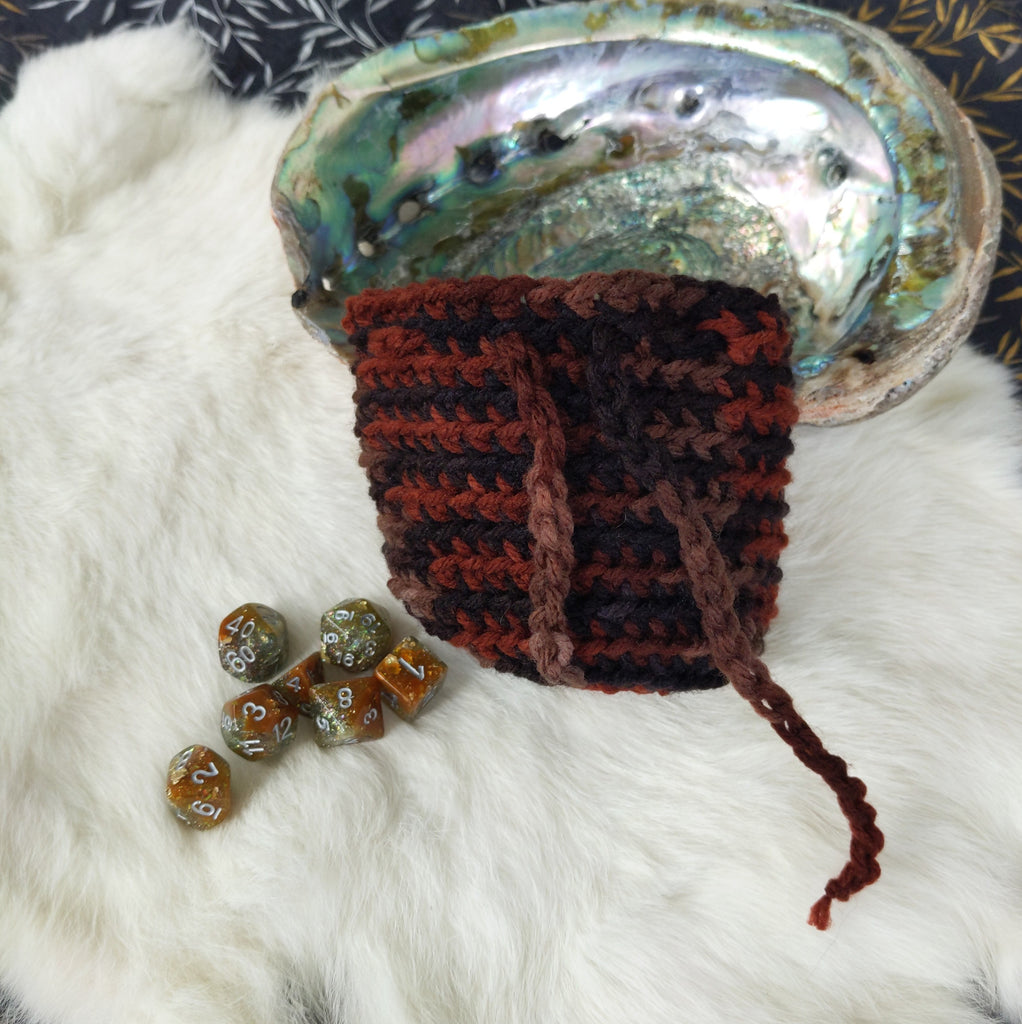 Rogue's Delight Handmade Crochet Dice - CozyGamer