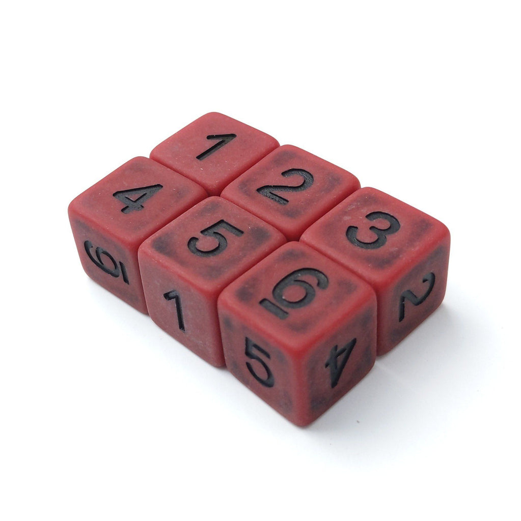 Blood D6 Set. Set of 6 - CozyGamer