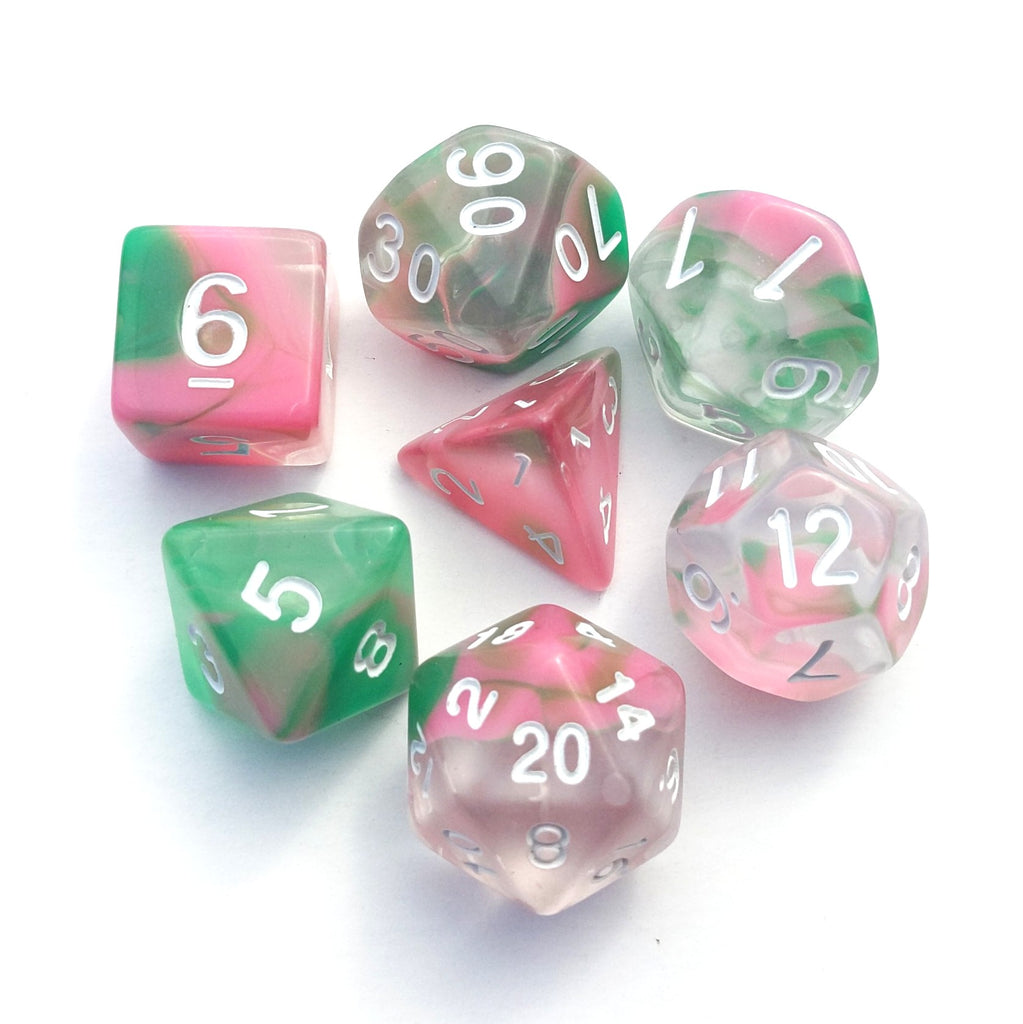 Spring Marble Dice Set - CozyGamer