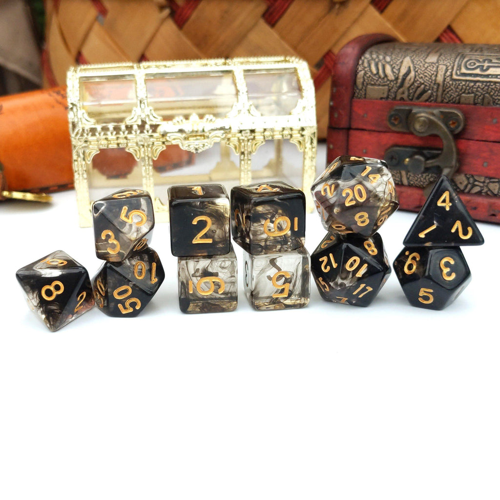 11 Piece Squid Ink Dice Set. - CozyGamer