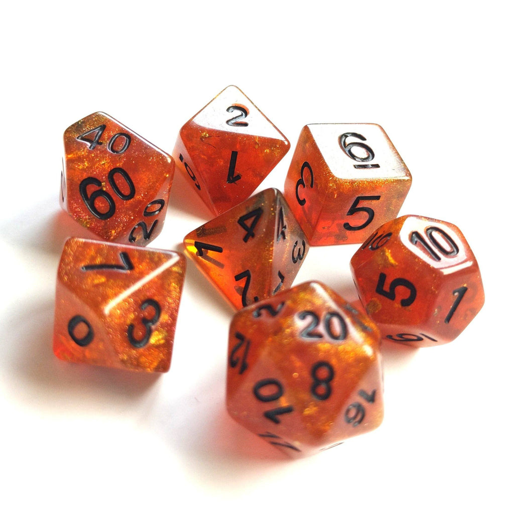 Auburn Scepter Dice Set with Black Font - CozyGamer