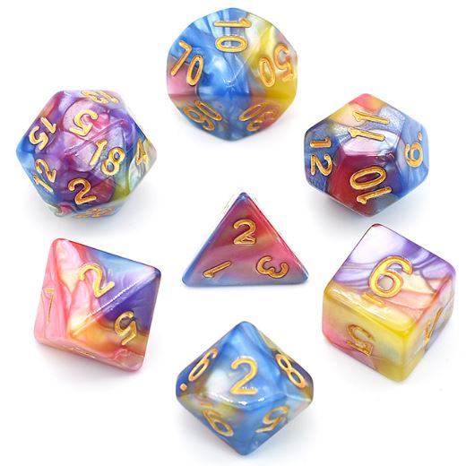 Swirling Palace Dice Set. - CozyGamer