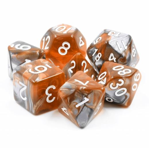 Amber Shard Dice Set - CozyGamer