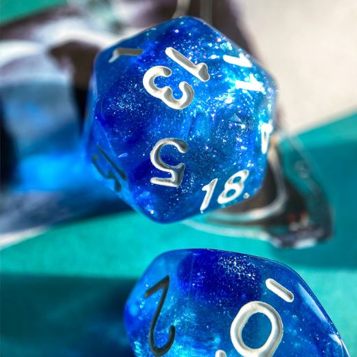Two Blues Will O Wisp Dice Set - CozyGamer
