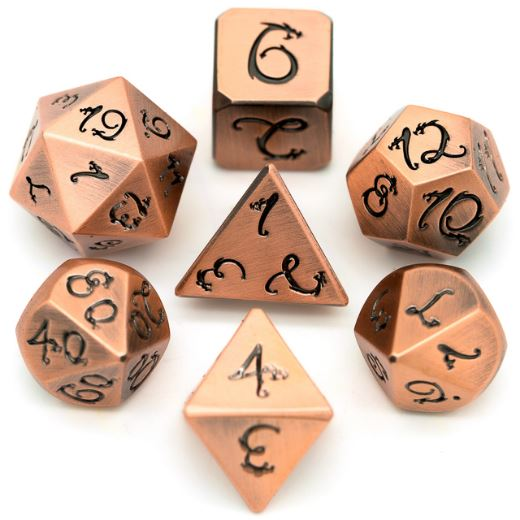 Copper Dragon Metal Dice Set - CozyGamer