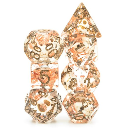 Skull and Copper Dice Set - CozyGamer