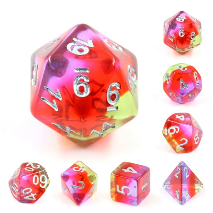 Pomegranate Blossom Dice Set - CozyGamer