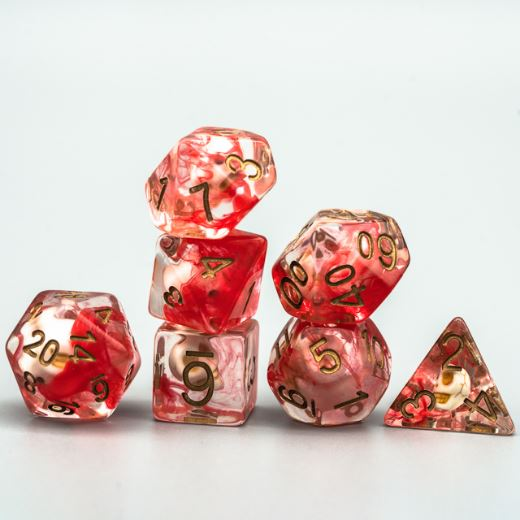 Blood Smoke Skull Dice Set - CozyGamer