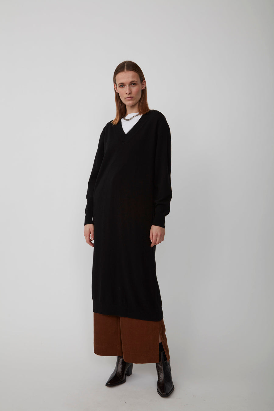 Zanny Knit Cashmere Dress JUST FEMALE