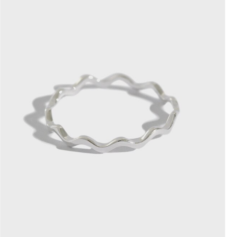ring waves silver SELECTED BY SIGHT