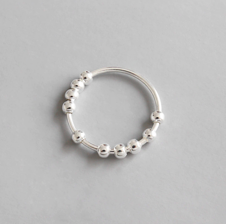ring with small balls SELECTED BY SIGHT