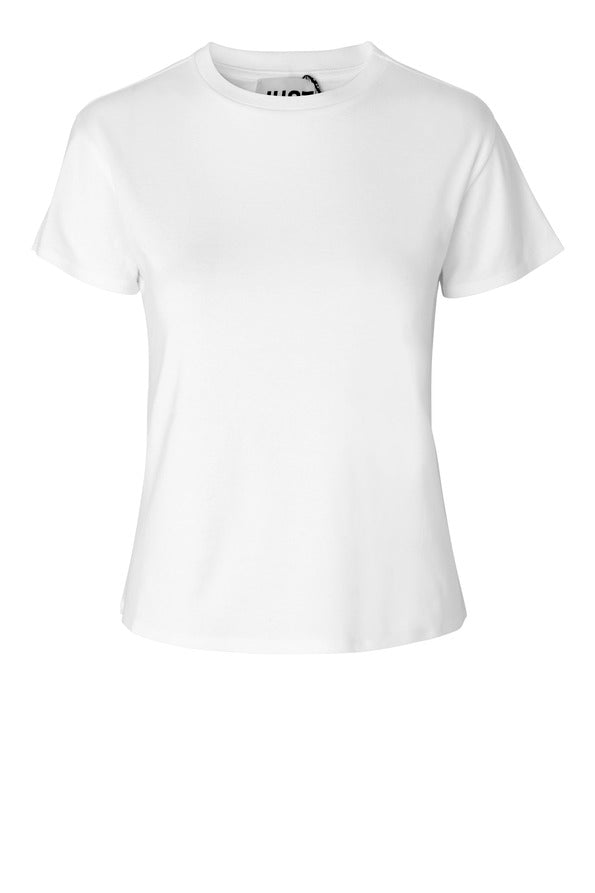 Cash Tee, white - JUST FEMALE
