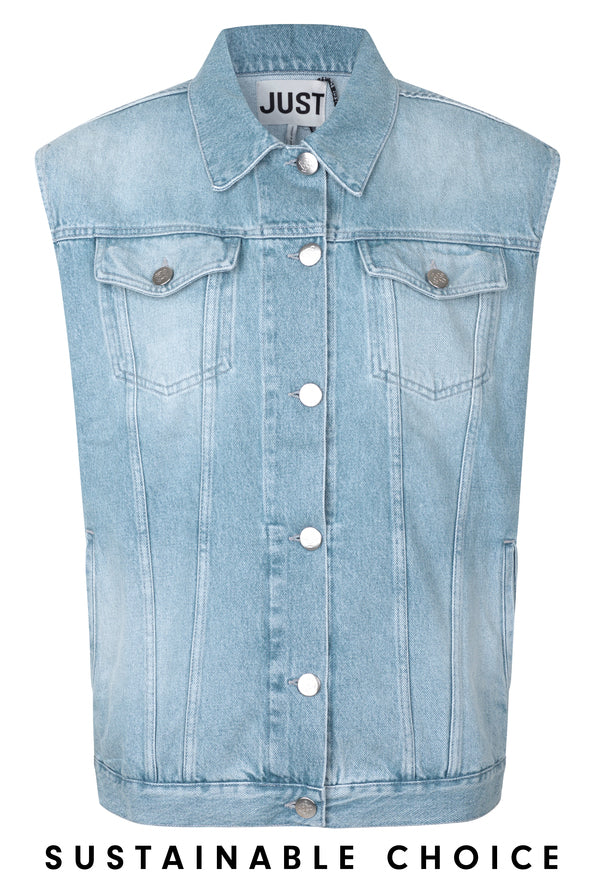 Cloud Denim Vest JUST FEMALE