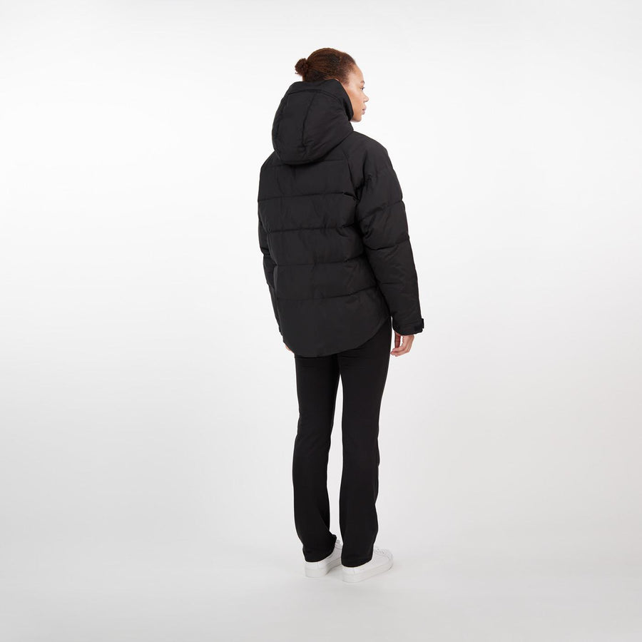 Lumi Short Parka black Oversize MAKIA