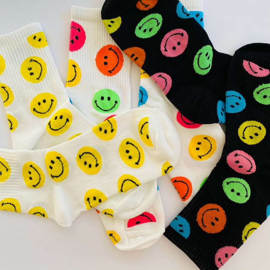 Smiley SOCKS - yellow