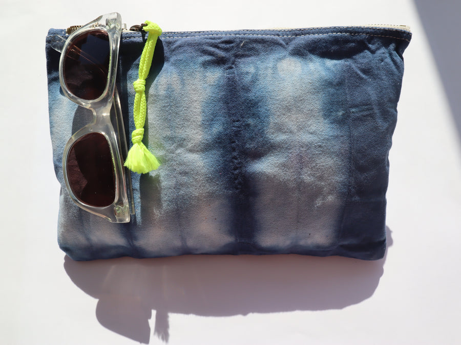 Shibori Dyed COSMETIC BAG