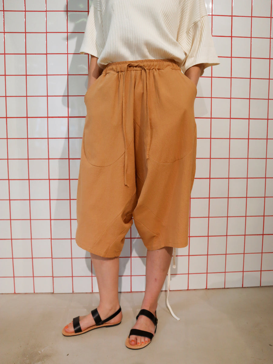 Japanese Shorts Cognac