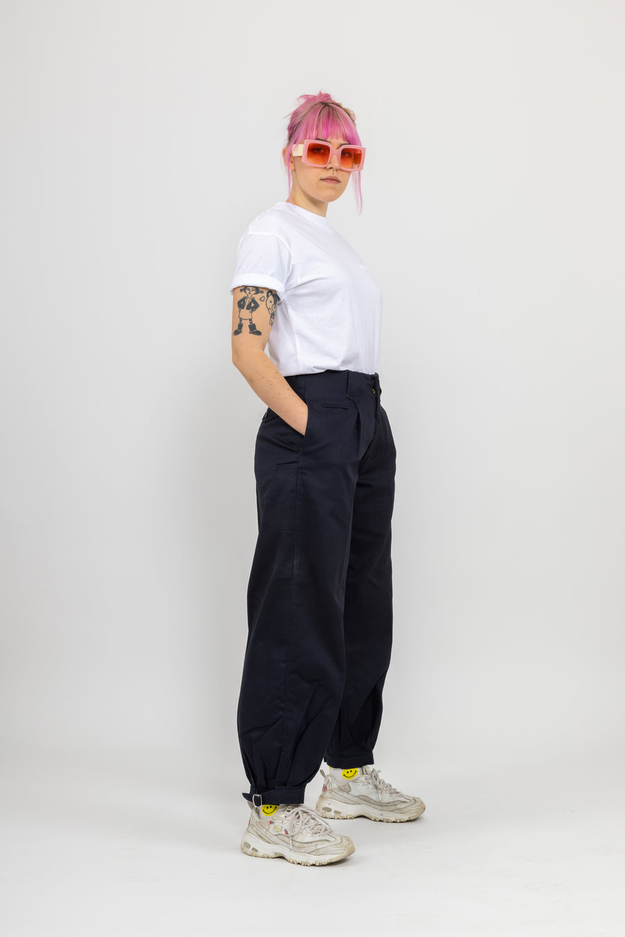 Japanese Workwear Pants - night blue