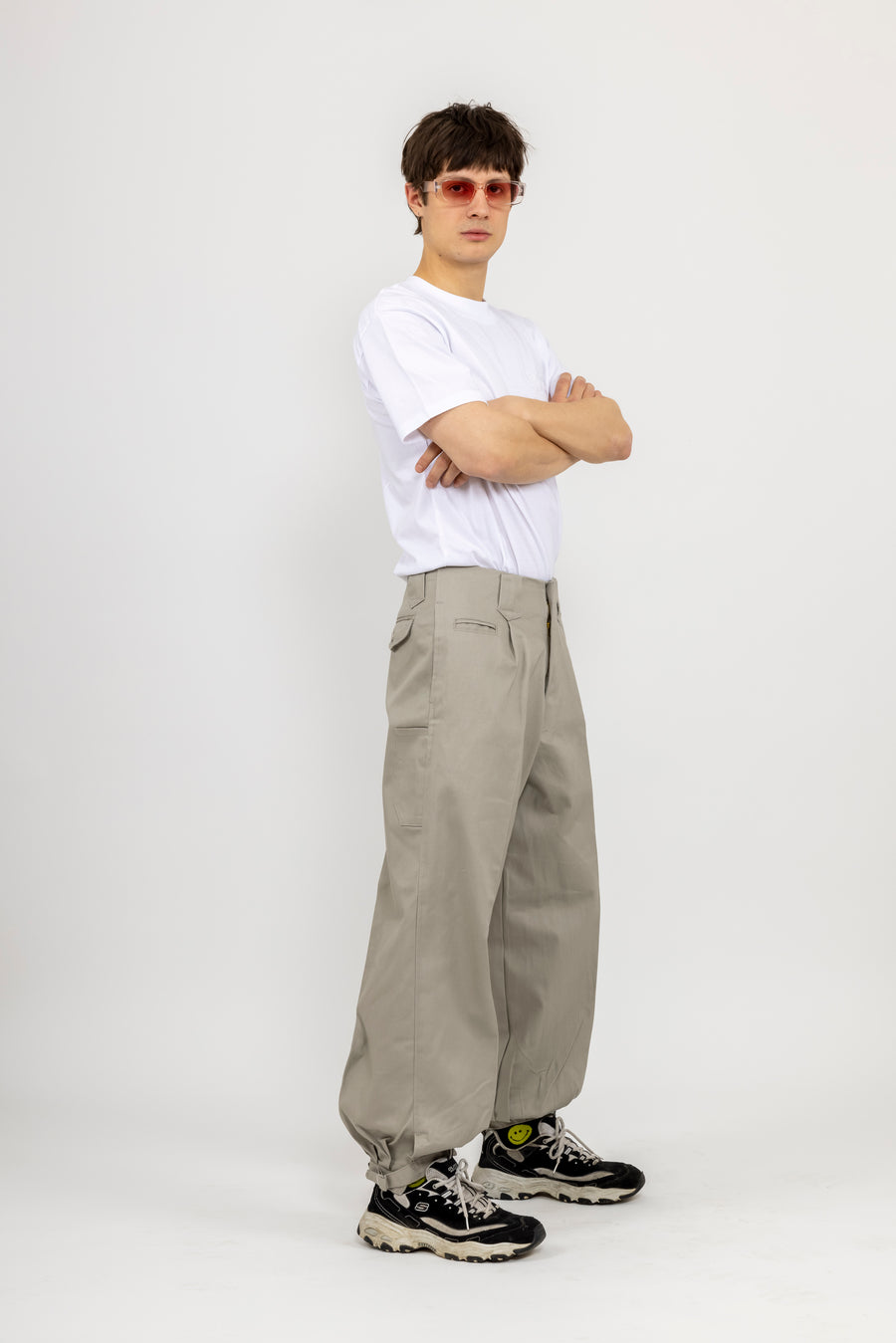 Japanese Workwear Pants  - ash grey