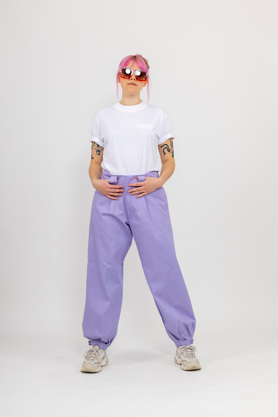 Japanese Workwear Pants - lilac