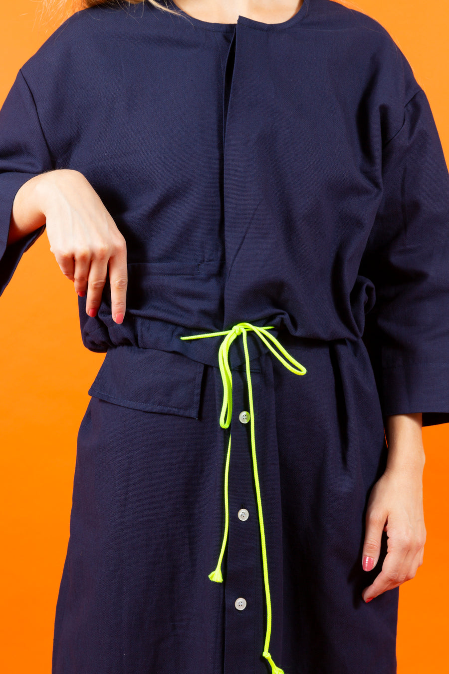 Blouson Dress navy blue SIGHTLINE