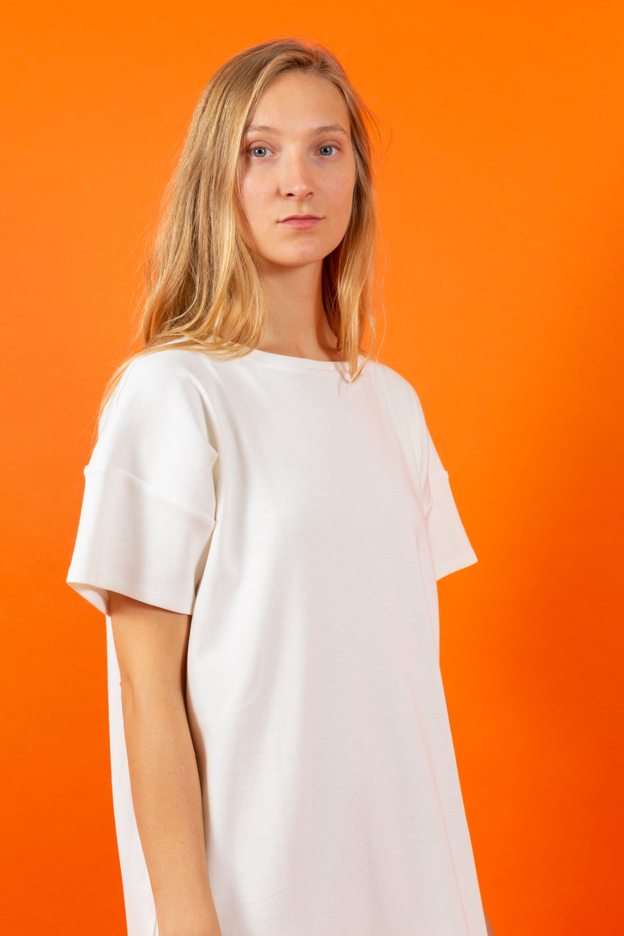 T-Shirt Dress white SIGHTLINE