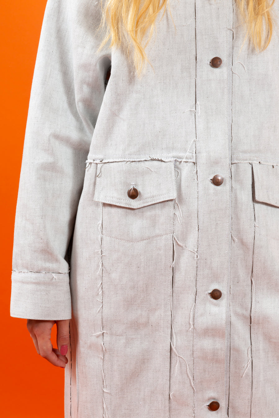 Japan Denim Coat White SIGHTLINE