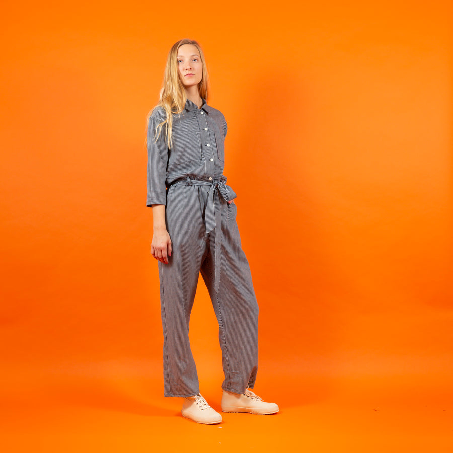 Jumpsuit striped Japanese cotton SIGHTLINE