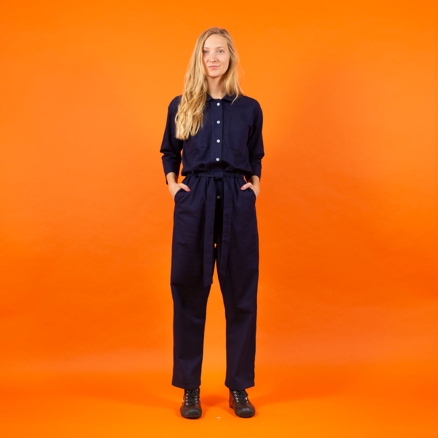 Jumpsuit dark blue SIGHTLINE Japanese fabrics