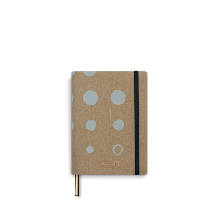 Address Book A6, mustard linen TINNE AND MIA