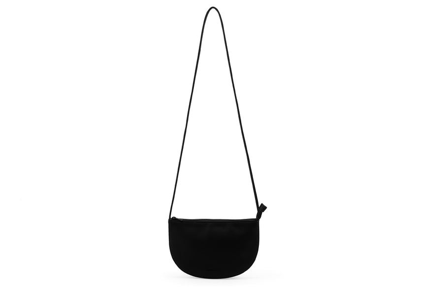 Half Moon Bag Vegan Leather black MONK AND ANNA