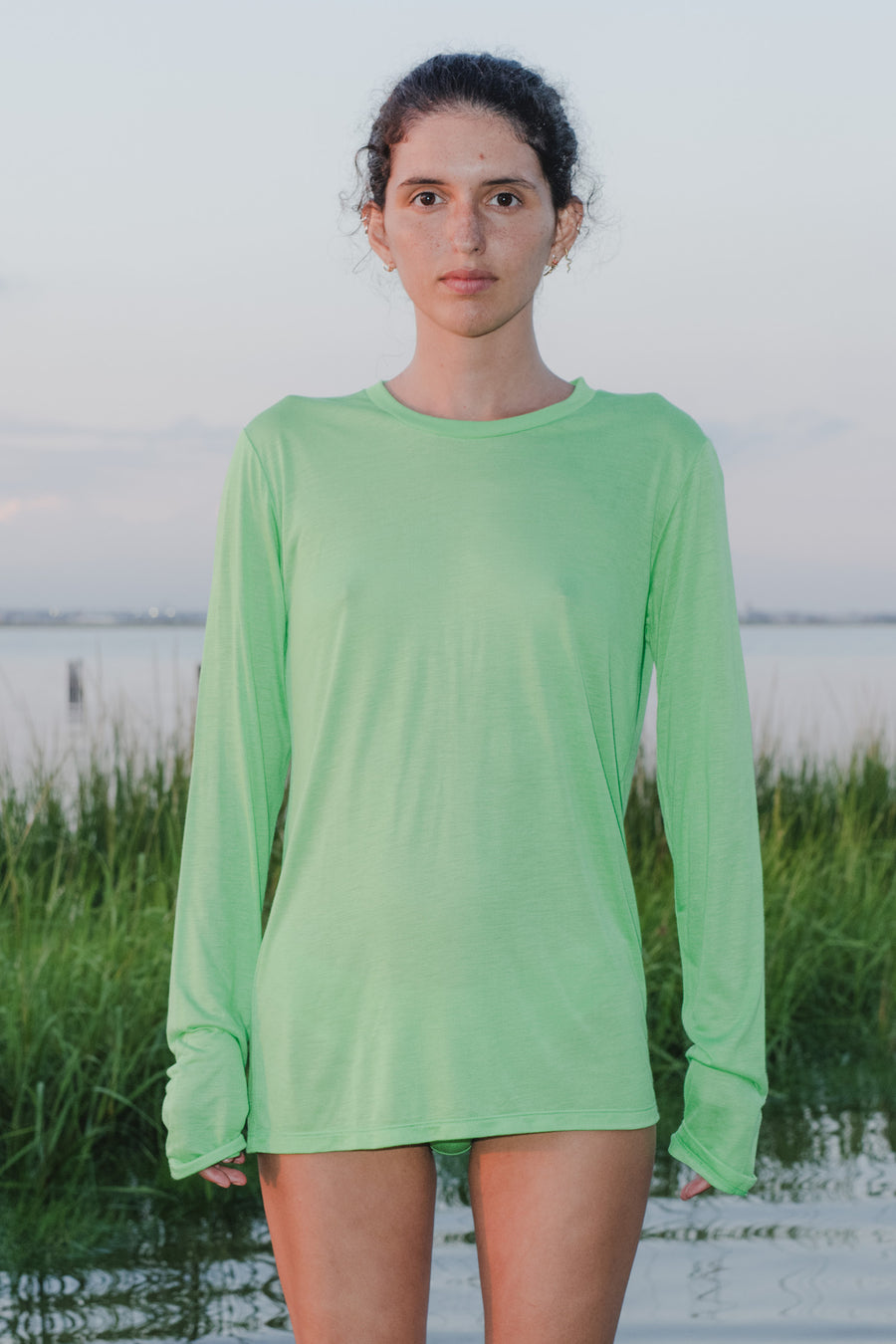 Long-sleeve tee ara green BASERANGE