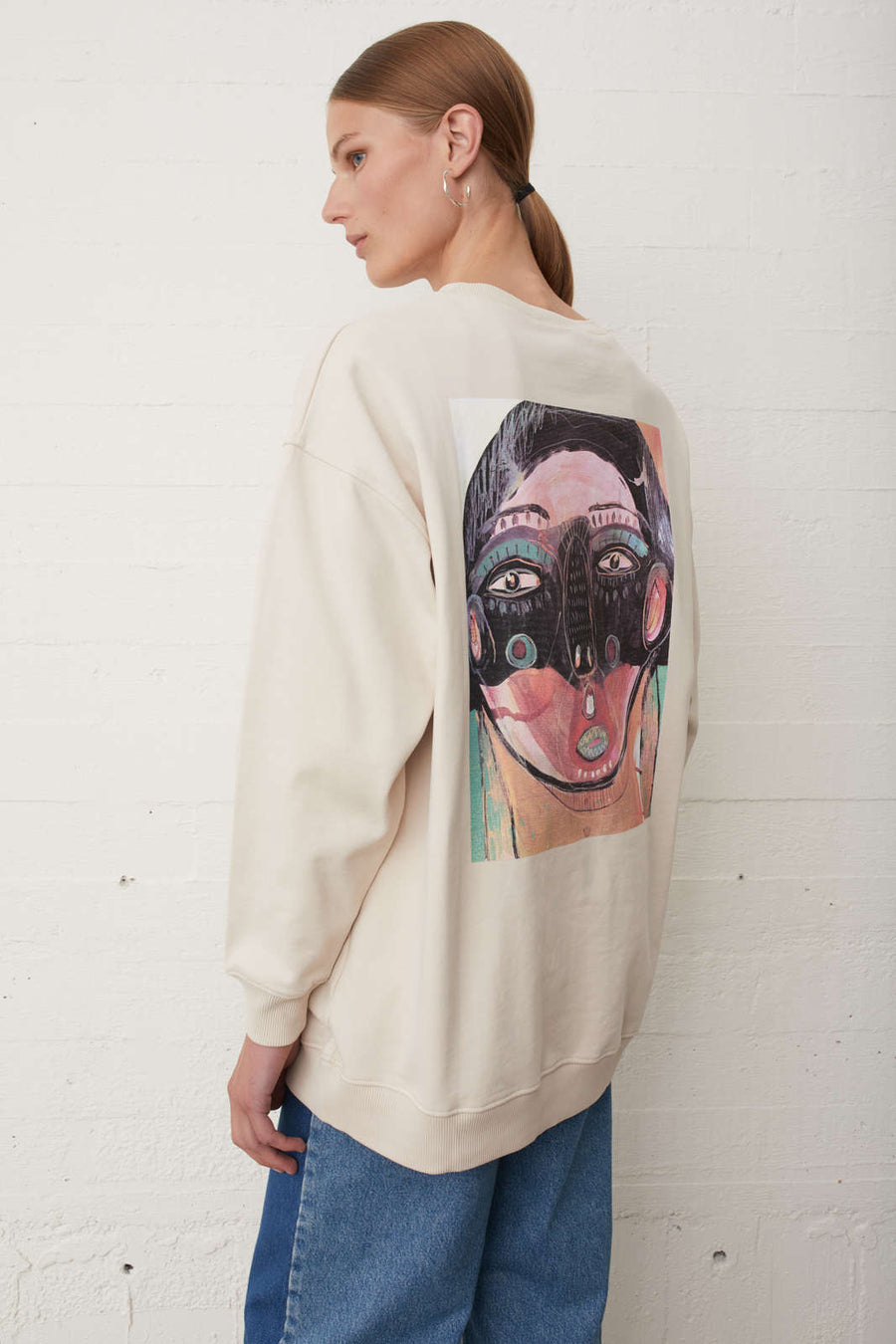 Sjulle Print Crewneck Sweater JUST FEMALE