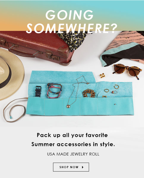 Pack all your favorite Summer accessories in style with the TOKYObay Obi Jewelry Roll. USA Made.