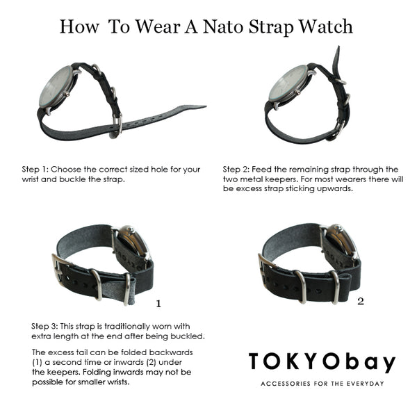 TOKYObay Guide to Wearing at NATO style strap watch