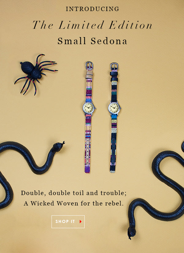 Introducing the TOKYObay limited edition Small Sedona Watch. Double bubble, toil and trouble; A wicked woven for the rebel. Shop Sedona Watch.