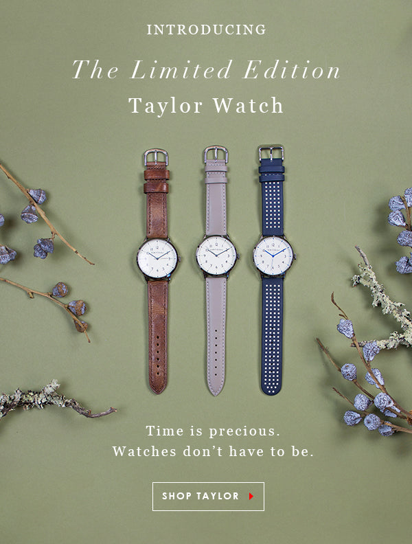 TOKYObay Limited edition Taylor watch for men and women. Time is precious but a watch doesn't have to be. Shop the Taylor Watch.