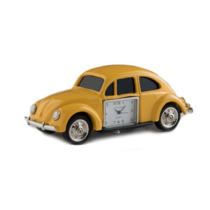 Yellow Beetle Car Desk Clock