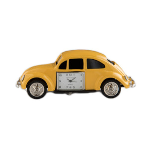 Beetle Yellow Car Desk Clock