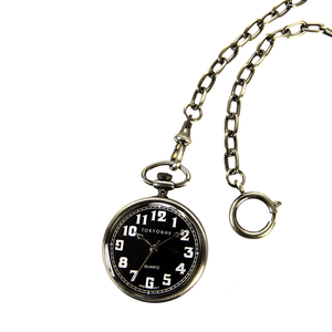 Eddie Pocket Watch - Black - Tokyobay