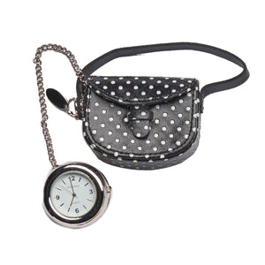 Purse Polka Dot Charm - Black - Tokyobay