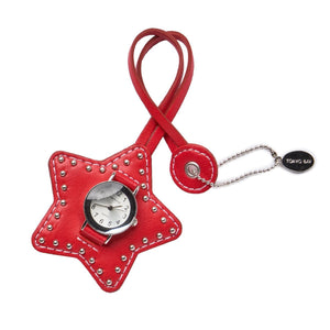 Studded Star Charm - Red - Tokyobay