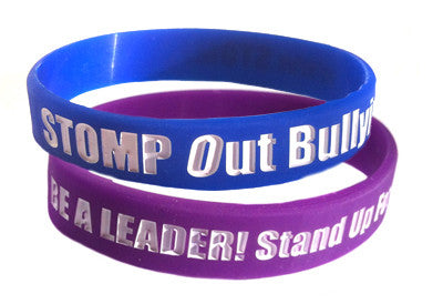 STOMP Out Bullying™ & BE A LEADER! Stand Up For Others! Wristband SPECIAL!