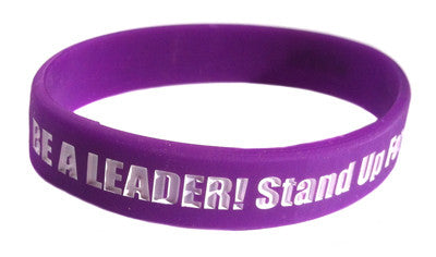STOMP Out Bullying™ BE A LEADER! Stand Up for Others! Two Wristband Special