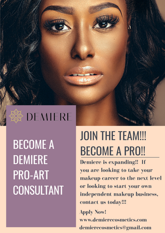 Fill out all information to be contacted back about becoming a Demiere Pro Artist.
