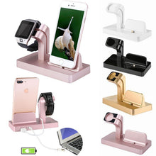 Load image into Gallery viewer, Charging Dock Stand Bracket Accessories Holder Kit For Apple Watch iPhone iWatch