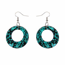 Load image into Gallery viewer, Circle chunky glitter resin drop earings - mint - Erstwilder - Drop essentials collection