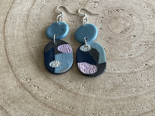 Hand crafted polymer clay earings
