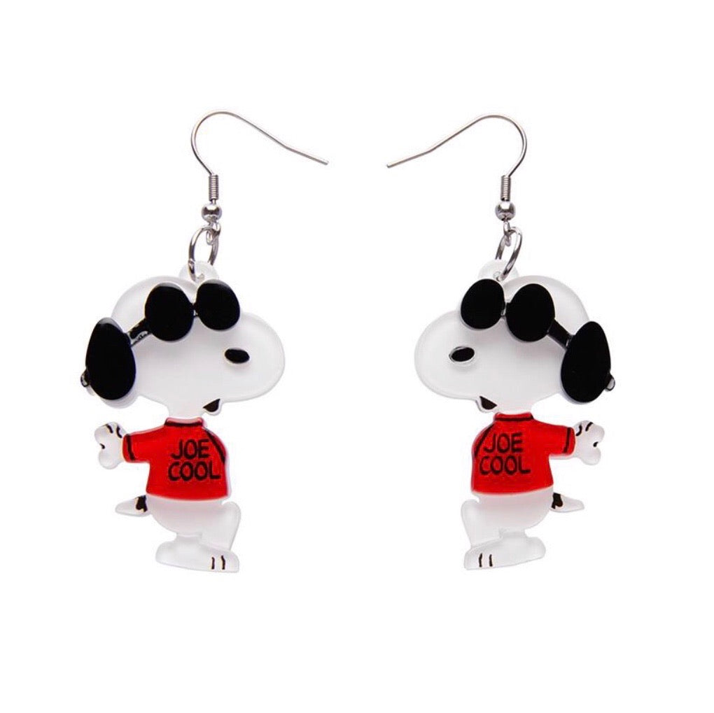 Joe Cool Drop Earings  - Erstwilder x Peanuts collection